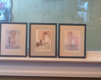 Bessie Pease Gutmann Trio of Prints