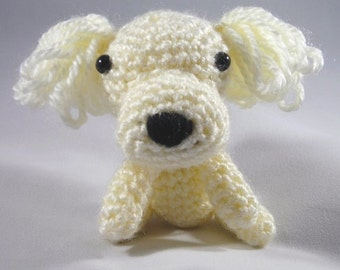 Posy the Poodle/Crochet Toy Poodle/Crochet Stuffed Toy/Stuffed Animal/Amigurumi/Crochet Dog/Crochet Puppy/White Toy Poodle/White Dog