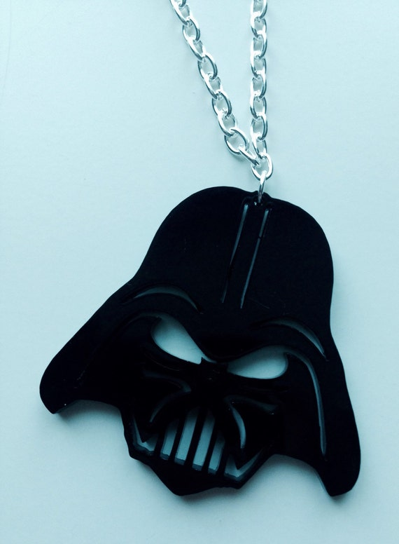 Darth Vader | Star Wars | The Force Awakens | Black | Laser Cut | Acrylic | Necklace