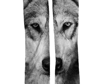 Wolf Cool Animal Socks | Wolf Lover Gift | Wolf Birthday Gift | Wolf Stocking Stuffer | Animal Sock