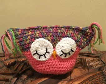 OWL PILLOW: Whoooo Loves You Pretty In Pink Owl