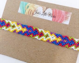 Arrowhead friendship bracelet / Aztec bracelet / Colorful bracelet / Tribal friendship bracelet / handmade bracelets  / macrame bracelet
