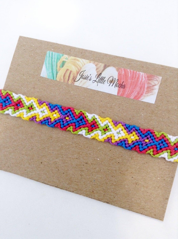 arrowhead friendship bracelet aztec bracelet colorful