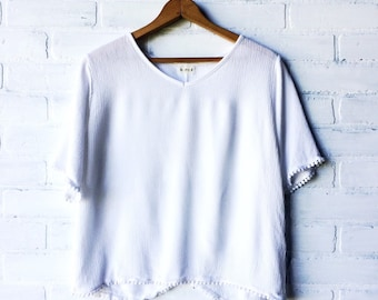 White textured top