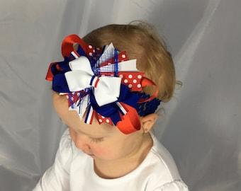 Fourth of July baby headband, Fourth of July bow, 4th of July baby girl headband, Fourth of July headband, 4th of July bow, 4th of July baby