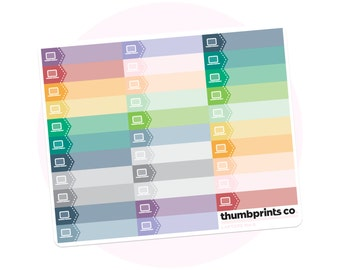 M4-8 // Laptop Itty Bitties // Multicolor Planner Stickers