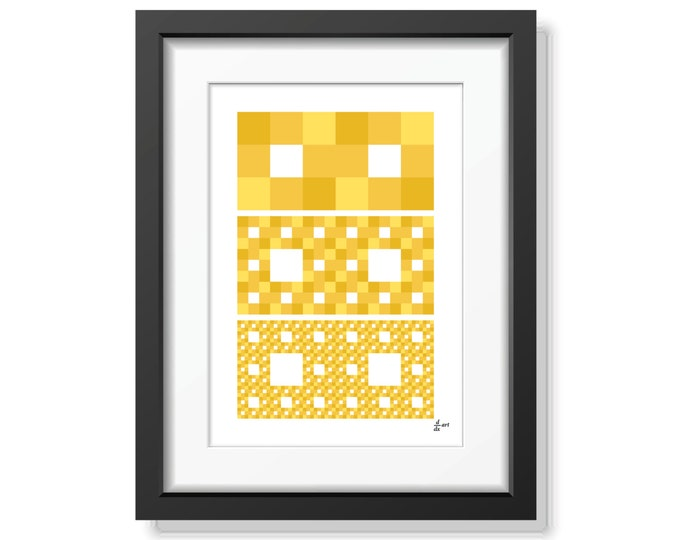 Fractal rectangles 06 [mathematical abstract art print, unframed] A4/A3 sizes