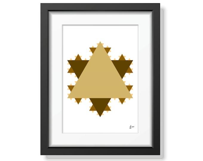 Koch star 01 [mathematical abstract art print, unframed] A4/A3 sizes