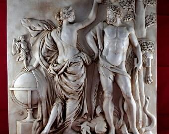 Hercules Aphrodite and Nike Wall Relief, Greek Parthenon NEW Greek Mythology