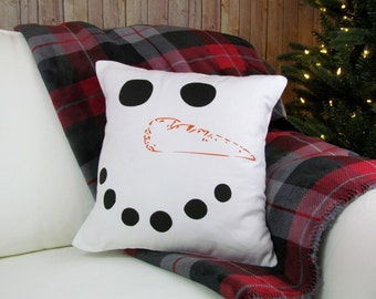 Frosty The Snowman, Christmas Decor, Holiday Pillow, Christmas Pillow, Decorative Pillow, Snowman Decor, Snowman Pillow