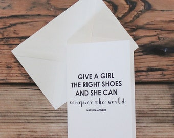 Marilyn Monroe Shoe Quote Card
