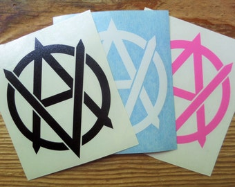 Vegan Anarchist vinyl cutout sticker, decal