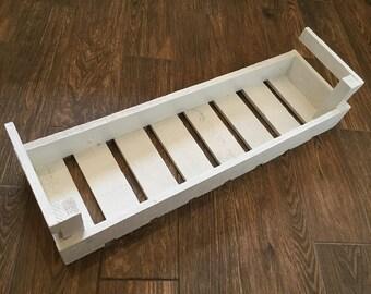 Vintage Handmade Crate Shelf