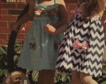 Girls Dress and doll dress pattern  pattern only