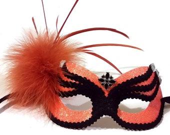 Orange Beatle Masquerade Mask - U575