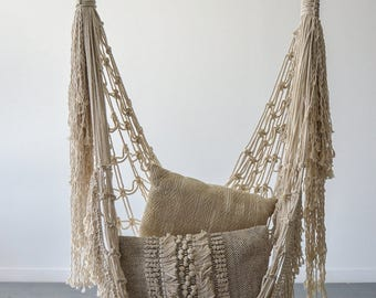 Macrame chair etsy for Macrame hammock chair pattern