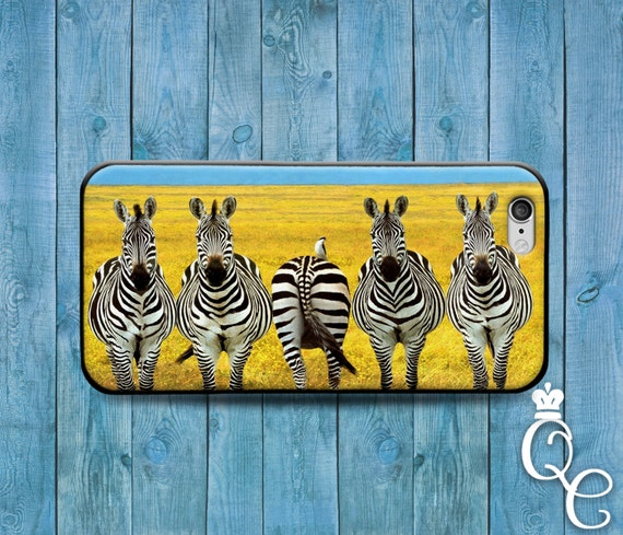 iPhone 4 4s 5 5s 5c SE 6 6s 7 plus iPod Touch 4th 5th 6th Gen Cute Animal Cover Cool Black White Zebras African Funny Zebra Phone Case