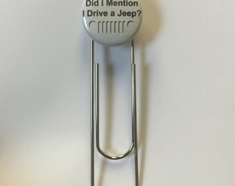 Fun Paperclip Bookmark with Jeep grill!