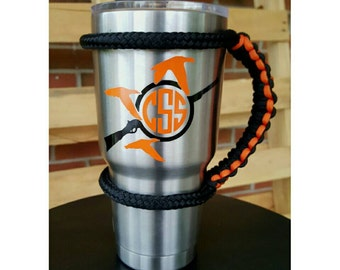 "Monogram Decal for Yeti Personalized Name Vinyl for ORCA Yeti RTIC Cup, Car window Decal 3""x4""  Duck hunting *You pick colors*"
