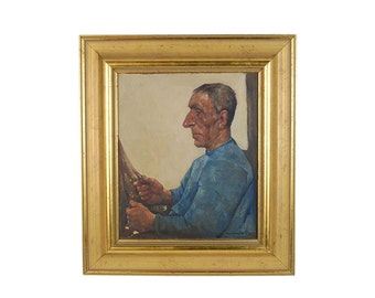 Willem Van Den Berg Oil Painting Dutch Fisherman with Gold Earring