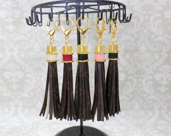 Key Chain! Authentic Louis Vuittonl! Upcycled Louis Vuitton Bag Charm Tassel