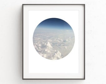 Cloud Wall Art Decor | Cloud Artwork | Clouds Wall Print