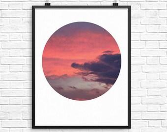 Cloud Photography, Cloud Print, Nature Photography, Circle Art, Circle Print, Cloud Art, Modern Prints, Geometric Art, Sky Print