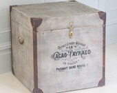Industrial End Table   Trunk Box
