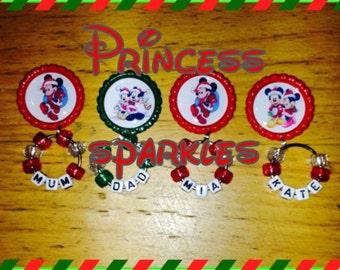 Personslised merry christmas santa snowman chrismas decoration fridge magnet family happy holidays happy xmas