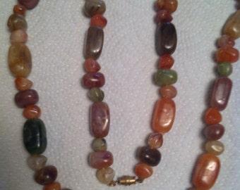 Vintage Autumn Colors Necklace