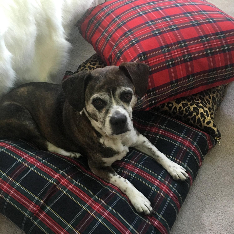 Tartan Dog Bed Cover Pet Duvets Pet Bed Stewart Tartan Dog Bed