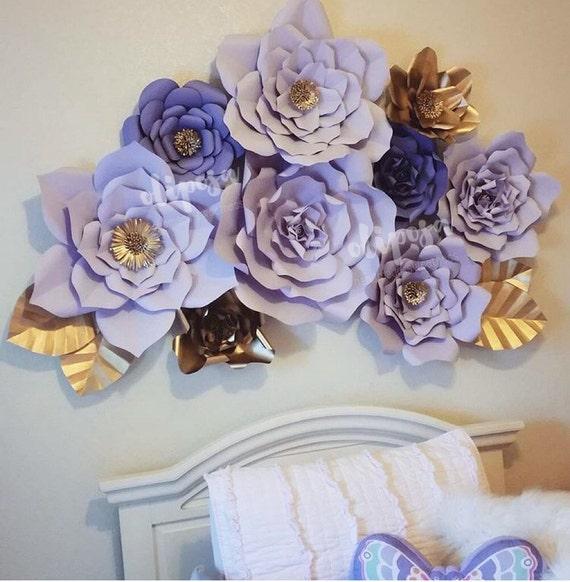 9 pc paper flowers nursery toddler room home decor - Cuadros para habitacion de matrimonio ...