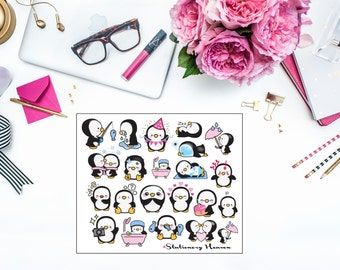 019 Kawaii Penguin Planner Sticker