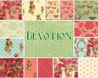 "Devotion 10"" Squares by Iron Orchid Designs for Clothworks CLTSQ0078"