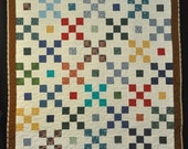 9 Patch Plus One Lap Quilt 45 x 56 Free Shipping