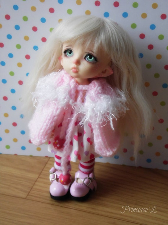 Woolen cloak for Pukifee, Lati Yellow and Tiny Delf