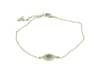 Evil eye bracelet, gold bracelet, silver bracelet, protection jewellery, dainty bracelet