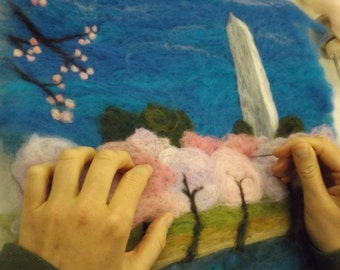 """Wall Hanging: """"Spring at the Capitol"""""""