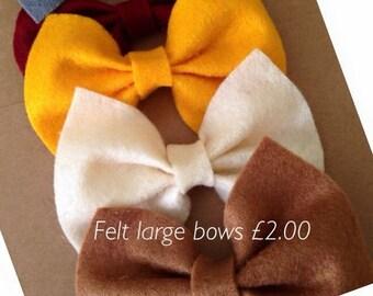 Large felt bows