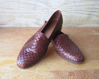 90's Woven Loafer Boho Slip ons - hipster - surf -  - Woman's 10