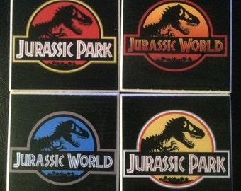 Jurassic Park and Jurasic World Inspired Magnets | Set of 4