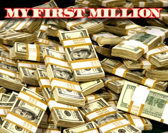 Money Poster My First Million Million Dollars in Cash Poster myfirstmoneyposter01