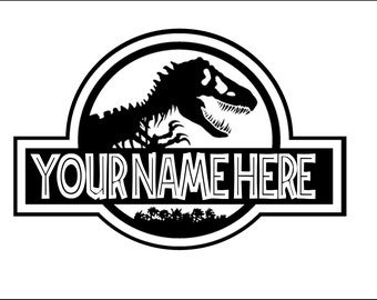 Jurassic World Personalized Logo