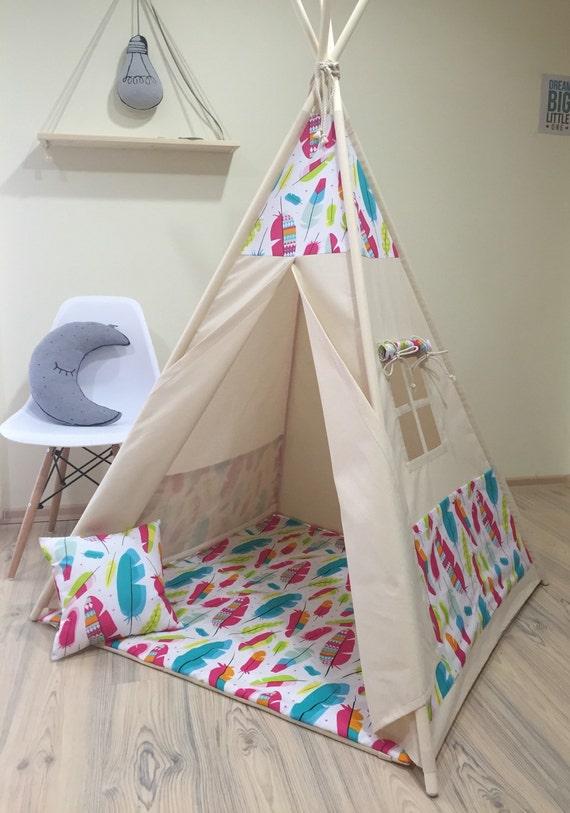 Kids teepee play tent wigwam children's teepee playtent