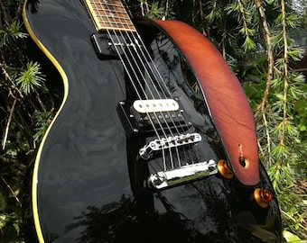 "Handmade ""Tobacco Sunburst"" Leather Guitar Strap"
