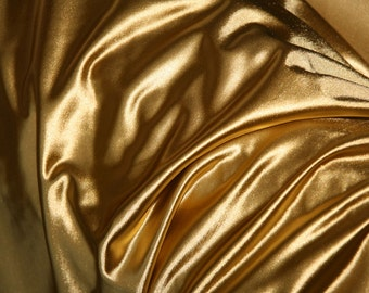 Gold Superstretch fabric