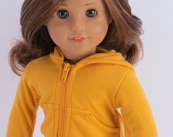 Dolls clothes, Hoodie  for 18 inch doll, American girl doll etc.