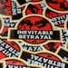 Jurassic Betrayal Sticker - 3 inch Die Cut Sticker  - Firefly Jurassic Park Sticker - Laptop Stickers - Phone Sticker - Shiny SciFi Sticker