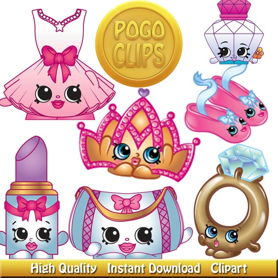 36 Shopkins Fashion Spree Clip Art DIY Instant Download Printable High ...
