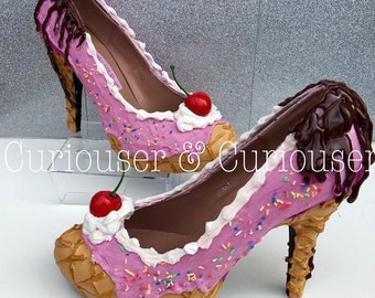 Strawberry Ice Cream Sundae Heels
